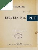 Reglamento de La Escuela Militar. (1883)