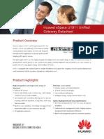 Huawei ESpace U1911 Unified Gateway Datasheet
