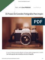 15 Frases de Grandes Fotógrafos Para Inspirarte