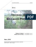 Tecnicas Educacion Popular