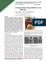 Spatial domain image fusion using adaptive cross filtering