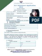 Volunteers Applicationform 2014