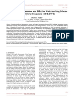 Study on High Performance and Effective Watermarking Scheme Using Hybrid Transform (DCT-DWT)