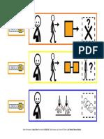 Tablero de comunicación ¿Qué has hecho el fin de semana? con pictogramas de ARASAAC.
