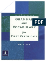 Prodromou Luke Grammar and Vocabulary for First Certificate