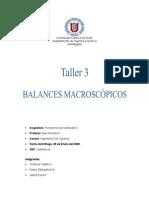 Fenómenos de Transporte II (2.2011) - Taller 3 - Antiguo # 2