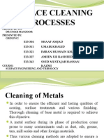 Surface Cleaning Processes