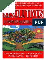 12 y 13 de Septiembre 2015 Resolutivos II Convención Nacional Magisterial