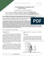 Motion Capture Process, Techniques and Applications