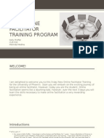 new online facilitator training program
