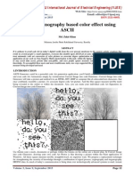 Image Steganography based color effect using ASCII