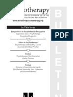 Psychotherapy Bulletin 2010, 45(1)