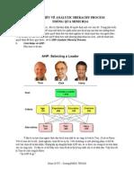 tÌm HiỂu vỀ Analytic Hierachy Process ThÔng