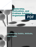 Leadership, Motivation, And Problem Solving In
