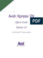 Avid Xpress DV Effects Guide
