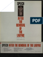 Speech After The Removal of the Larynx
