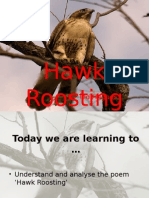 Hawk Roosting by Ted Hughes