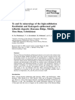 Te and Se mineralogy of the high-sulfidation Kochbulak and Kairagach epithermal gold telluride deposits
