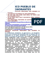 Partidos PolÍticos Mexicanos Que Exhiben Su Miseria.