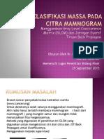 Pendeteksian Kanker Payudara Pada Citra Mammogram