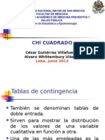 Chi Cuadrado Correlación y Regresión Lineal Jun 2013