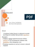 Sociology key terms