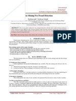 Data Mining For Fraud Detection