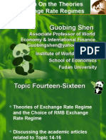 research on theory of exchange rate regime