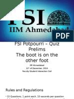 FSI PotPourri Quiz Prelims