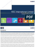 KEC Corporate Presentation