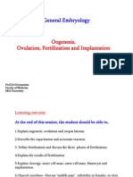 Oogenesis, Ovulation, Fertilization & Implantation (MED 1112)