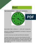 Ajit Vadakayil_Time Management