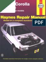 Toyota corolla 1984-1992