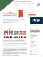 Emprender Para Dummies_ Metodologías Lean de Creación de Empresas