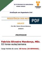 Resistência Dos Materiais - Aula 01 - Engenharia Civil (1)