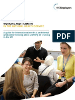 Working Training NHS Guide for IMGs