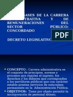 Clase 8 Ley de Base de La Carrrera Administrativa y Remuneraciones Del Sector Publico Dec. Leg. n 276
