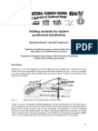 Drilling Methods for Shallow Geothermal Installations