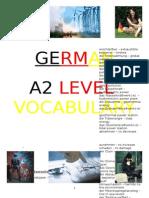 German A2 Vocabulary