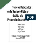 efectos toxicos de savia de platano