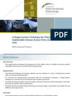 A Single-Incision Technique for Placement of Implantable Venous Access Ports via the Axillary Vein