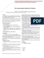 ASTM F1764 - 97 Selection of Hardline Communication