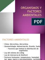 FACTORES ABIOTICOS - AMBIENTALES