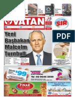 Yeni Vatan Weekly Turkish Newspaper September 2015 Issue 1817