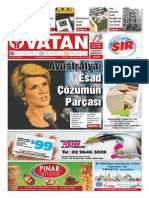 Yeni Vatan Weekly Turkish Newspaper September 2015 Issue 1819