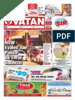 Yeni Vatan Weekly Turkish Newspaper September 2015 Issue 1820