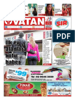 Yeni Vatan Weekly Turkish Newspaper September 2015 Issue 1816
