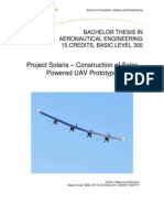 Construction of Solar Powered UAV Prototype Author: