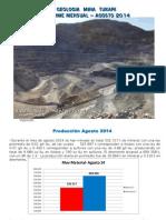Tucari Reporte Mensual Agosto 2014