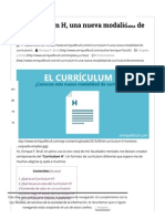 El Currículum .H, una nueva modalidad de currículum